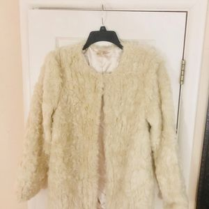 Faux Shearling Coat with silk lining